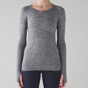 Lululemon Run Swiftly Tech Long Sleeve Top Gray 8